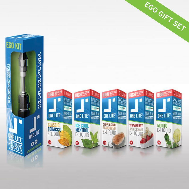 EGO Electronic Cigarette plus 5 x E-Liquids Flavours