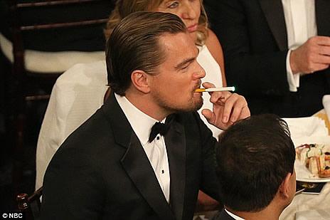 Leonardo DiCaprio Vaping